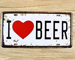 Yours Dec Metal Tin Sign (1530cm) Metal Tin Signs I Love Beer Wall Art Craft Iron Retro Metal Painting Tin Signs