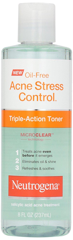 Neutrogena, Oil-Free Acne Stress Control Triple-Action Toner, 8 fl oz