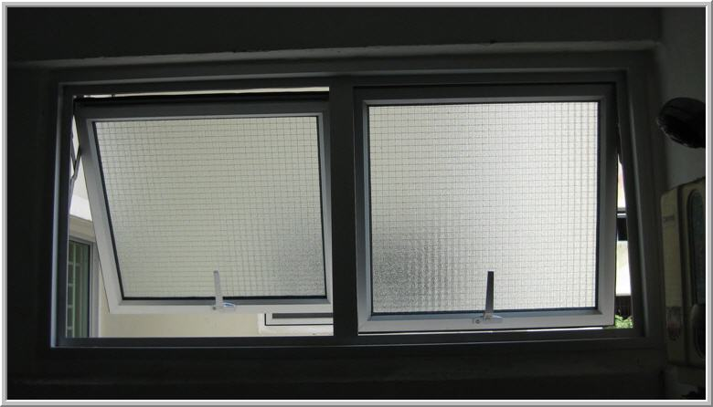 Aluminum Frame Top Hung Window With Obscure Glass Hopper Window ...
