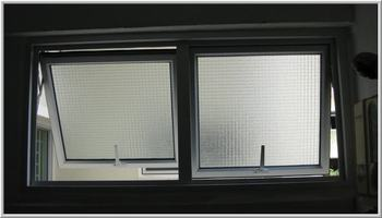 Aluminum Frame Top Hung Window With Obscure Glass Hopper