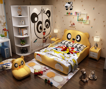2017 Factory export Lowest price Environmental health kids cartoon shape wood single baby bed baby furniture