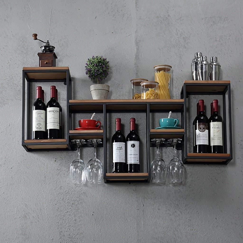 Wrought Iron Wall Mounted Wine Rack