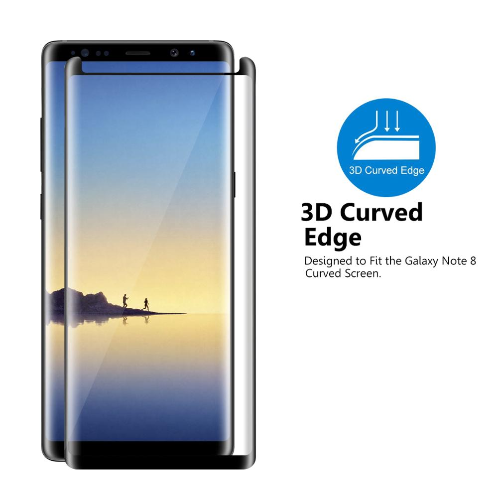 los angeles 66112 45a46 Hot!!!Vmax 3D Curved Edge Full Cover Tempered Glass Screen Protector for  Samsung Galaxy Note 8, View tempered glass for galaxy note 8, Dmax/Vmax ...