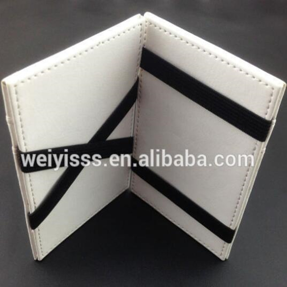 2015 Promotional New White Color PU Magic Flip Wallet