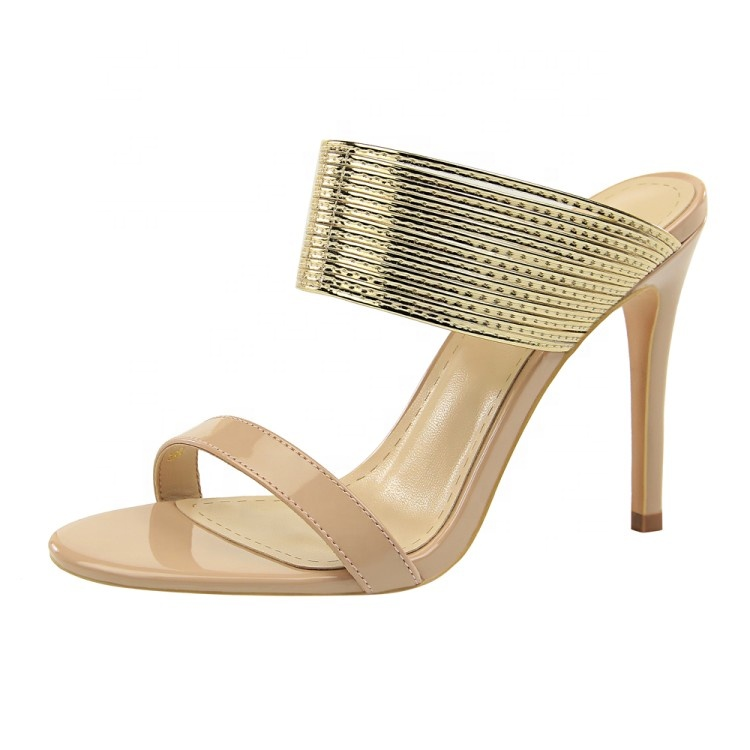 New design slipper ladies summer high heel pu stiletto <strong>sandals</strong> fashion girls party wear latest high heel <strong>sandals</strong>