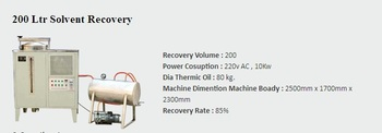 Flexography Solvent Recovery Maschine