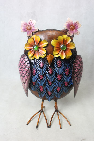 garden and home decoration craft art metal owl bird prices