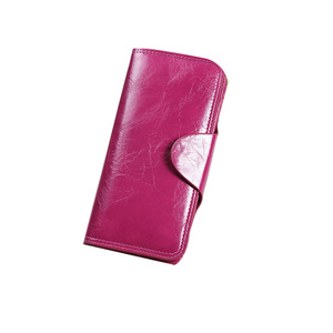 Red Pink Yellow Blue leather handmade wallet for women