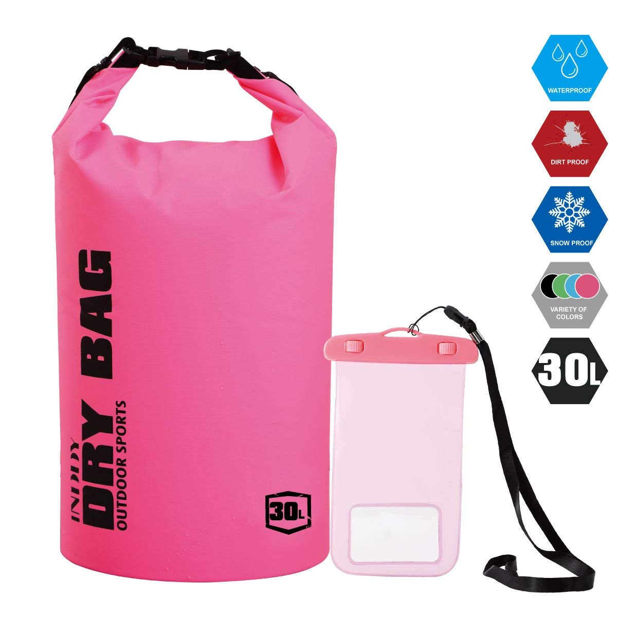 Get Quotations · INDDY Waterproof Dry Bag 5L 10L 20L 30L 40L Backpack Dry  Gear a251cf056a4a7