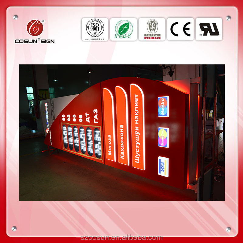 Gas Station LED Pylon Outdoor Sign Pylon Sign for Customized Design