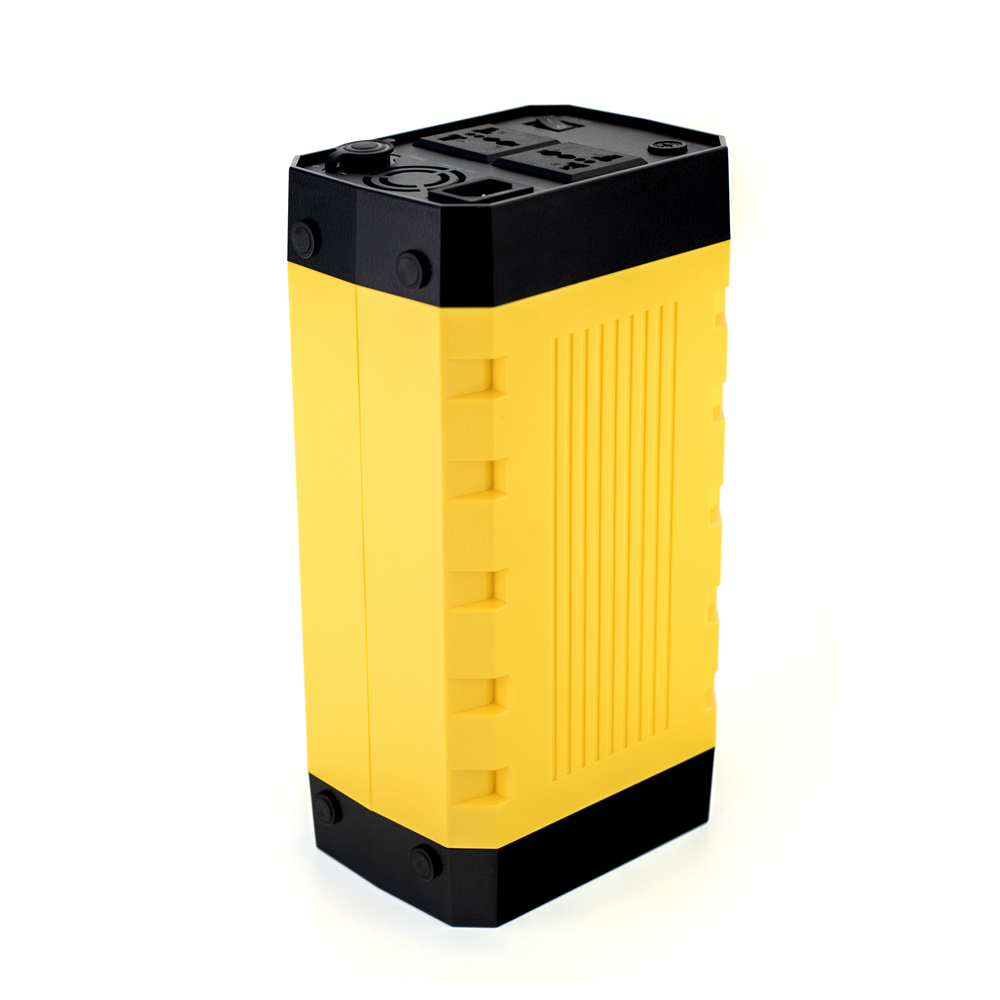Portable mini UPS 12V 30Ah lithium polymer battery pack with solar panel