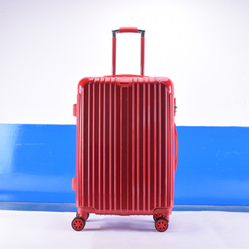 286b6e4d2 Newest Bright Color Hard Shell Spinner Abs Pc Travel Luggage Factory ...