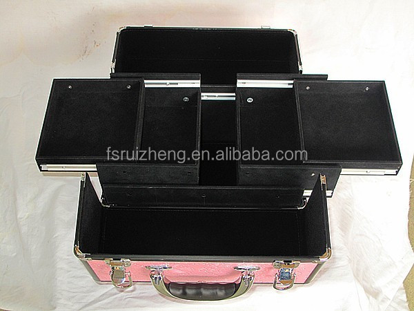 Fashion aluminum makeup case hairdressing carry cosmetic case