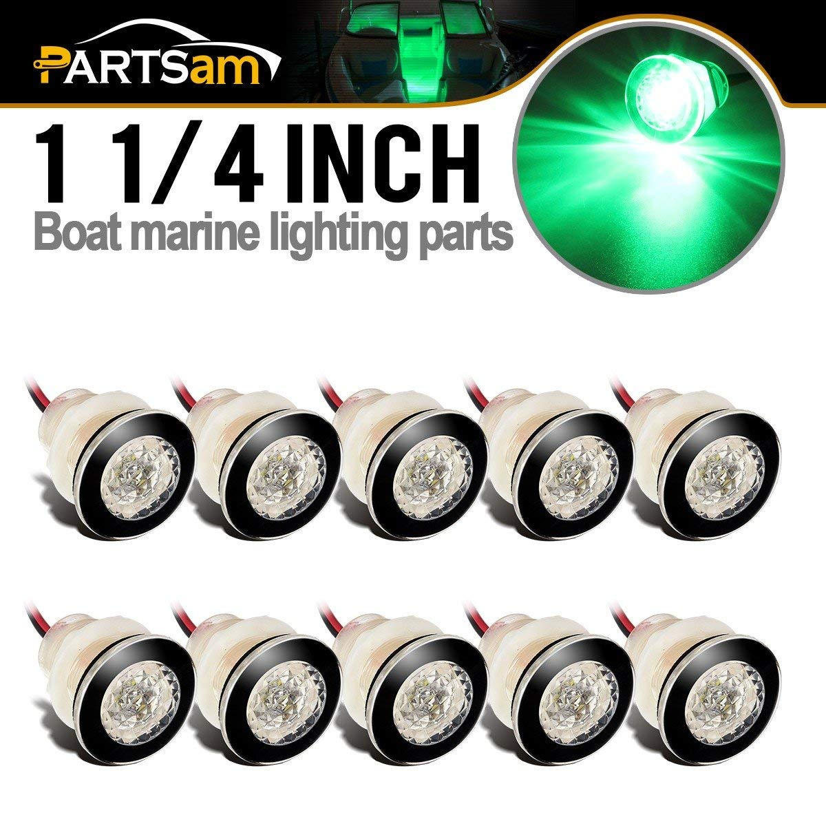 Livewells 4× Boat Marine RV Waterproof 12V LED Courtesy Light for Boats //Stair