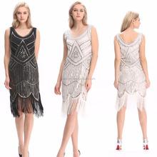 b1eacf752581f En iyi dans kadın Vintage 1920 s Gatsby Payet Boncuklu Saçaklı Püsküller  Hem Sineklik <span