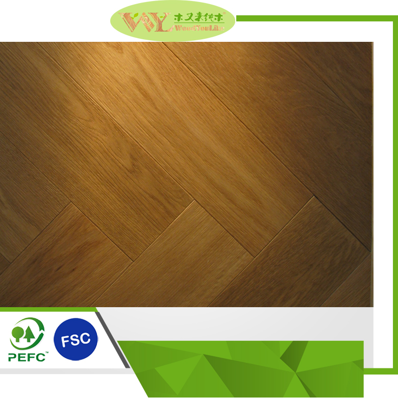 Hot Sale Brushed Oiled European Oak Parquet Wood Flooring