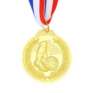 Wholesale zinc alloy metal 3D football gold medal with your own logo