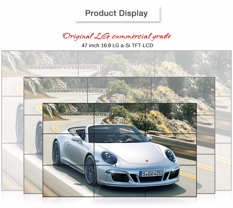 47 '' Monitor LCD Video Wall Solutions Slim Bezel LCD