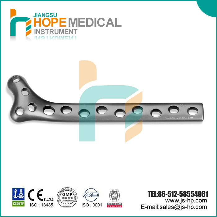 Orthopedic bone plates lateral femoral condyle plates, titanium with low price