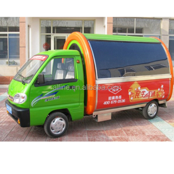 mobile food cart with frozen yogurt machine with CE approved