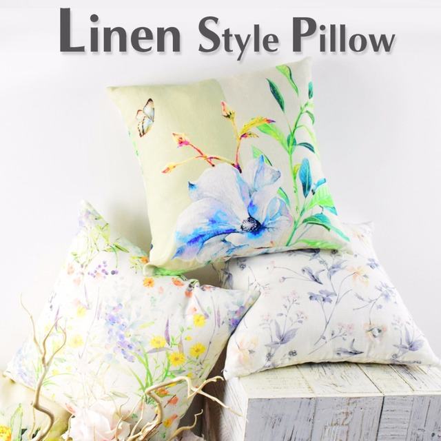 Disposable throw pillow case home decorative 100% linen