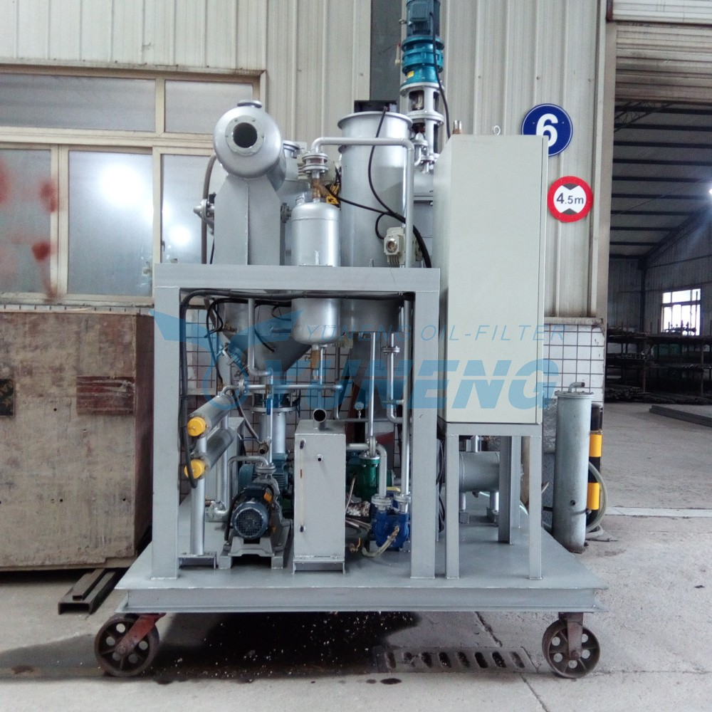 Used black engine oil recycling and regeneration machine for Motor oil disposal near me