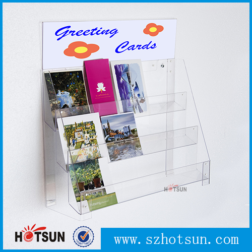 tiers wallmounted clear acrylic greeting card display racks for, Greeting card
