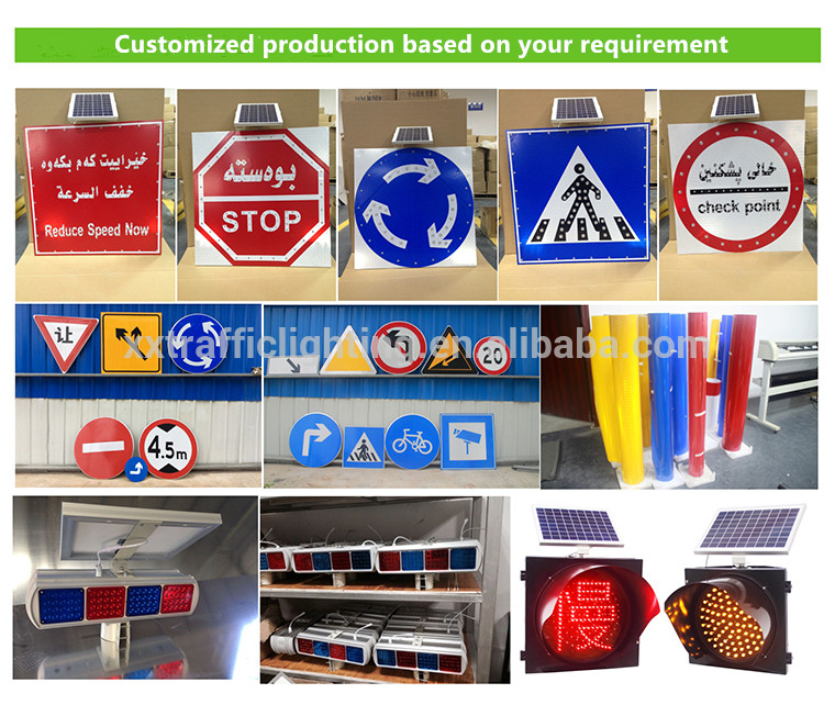 Wholesale Outdoor Led Sign Solar Powered Traffic Sign