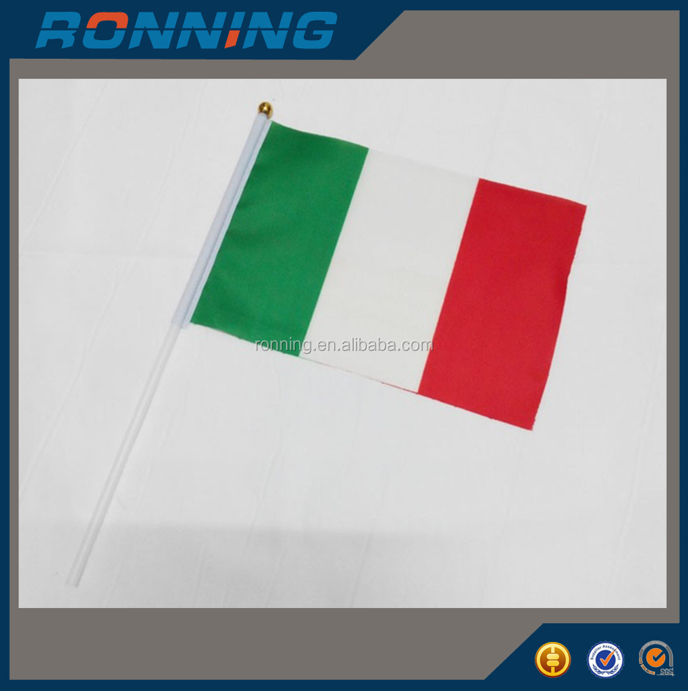 Cheap Customize Small Size Italian Hand Held Waving Flags