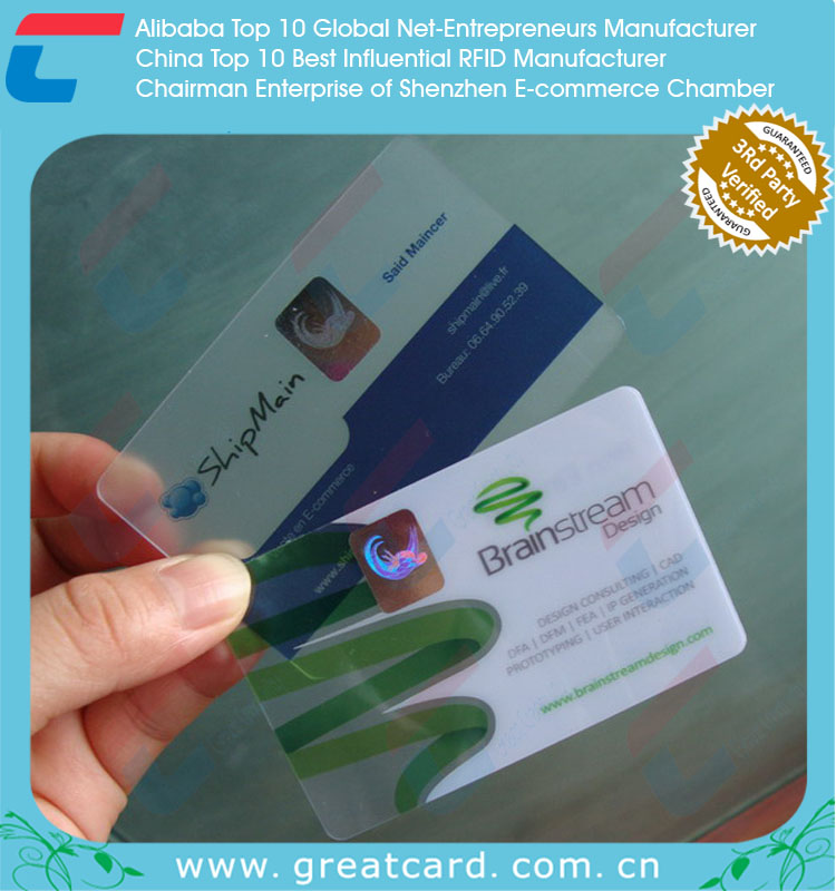 Frosted Clear Plastic Business Cards,Transparent Pvc Id Card - Buy ...