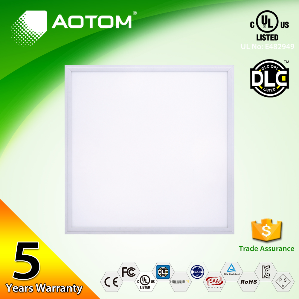 UL DLC 40w 2x2ft 600x600 6000k ultra thin embedded recessed LED panel light