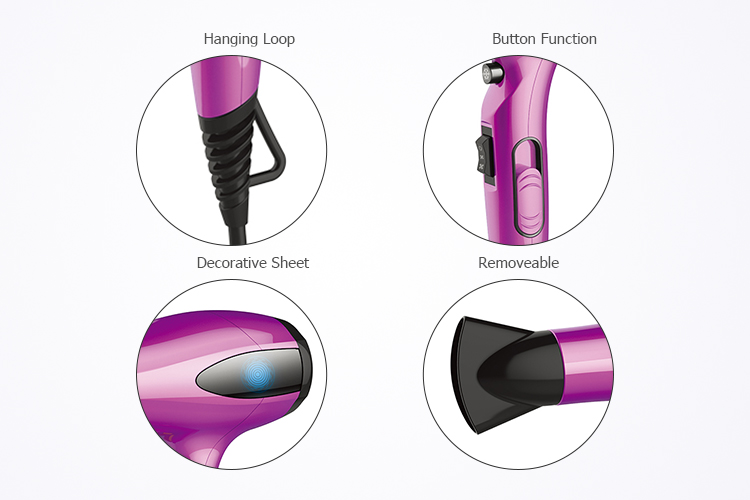 New idea continuous heat control variable power selection LED lamp hairdryer professional hair stylist recommend hair blow dryer