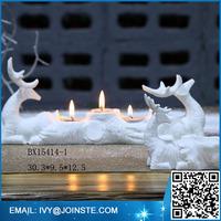 Porcelain white deer ceramic candle holder home decoration candle holder wholesale