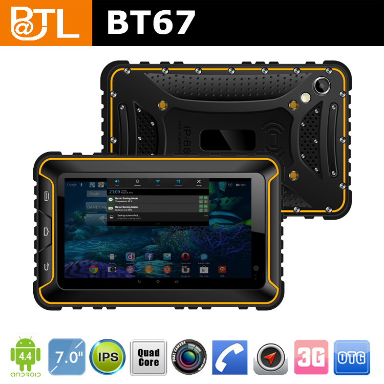 7 inch tablet rugged rubber case with BATL BT67 MTK6589 quad core 3G/IPS/2+8MP/1+16GB
