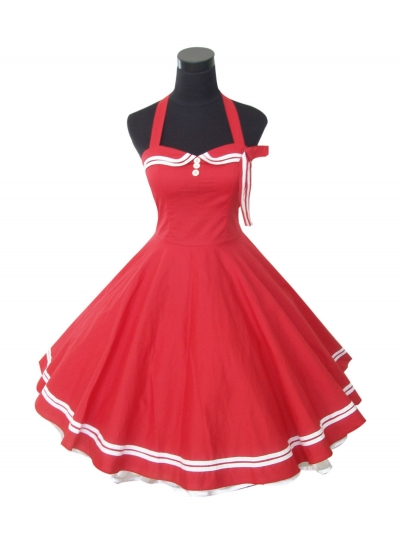 Get Quotations · New Ladies vintage 50s Blue Nautical Sailor style  Rockabilly Swing cute dresses for cheap c675aaa576d0
