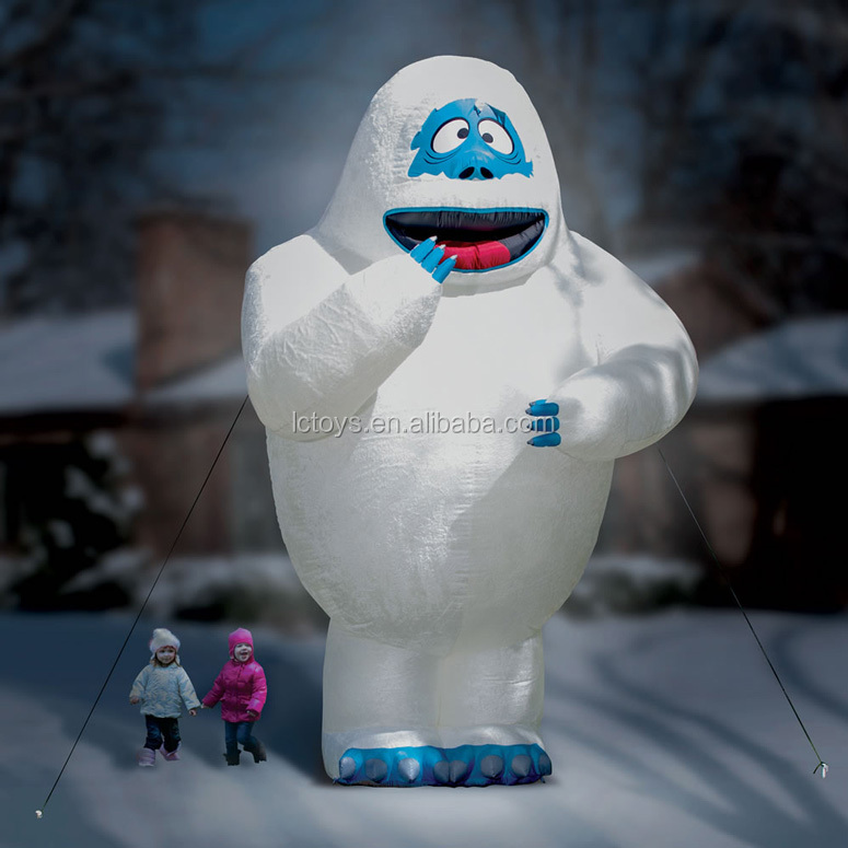 Funny 15 foot inflatable bumble abominable snow monster for Christmas decoration