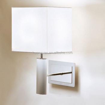 Modern Fabric Headboard Read Rectangeable Wall Lamp Led Mount Reading