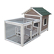 DFPets DFR065 Wood Rabbit Hutch Designs