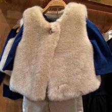 afeeda968db4b5 Groothandel 2016 Fall Winter Warm Soft Fashion Kinderen Faux Fur Vest