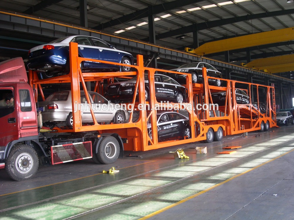 2 or 3 axle 12 car carrier trailer car transport semi truck ...