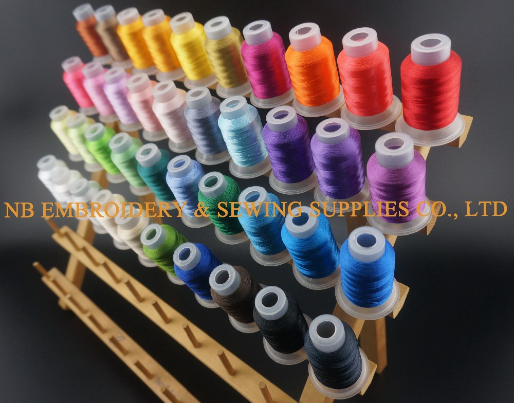 Wonderbaar 40 Brother Colors 500M(550Y) Each Polyester Embroidery Machine RH-92