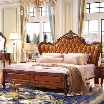 Solid Wood French Style King Size Bed Set Vintage Bedroom Furniture - Buy  Vintage Bedroom Furniture,King Size Bed Set Bedroom Furniture,Solid Wood ...