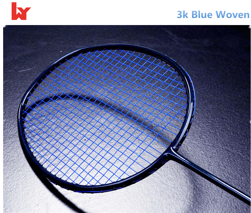 3K woven modulus badminton racket with light weight