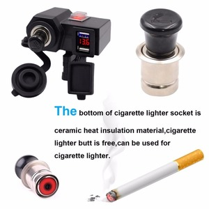 Motorcycle 3.1A Cigarette Lighter USB Phone Power Socket Charger Waterproof