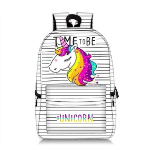 Coolost Unique Backpack Cute Unicorn Panda Print Bag Pocket Girls Women All Over Printed Magic School Bags