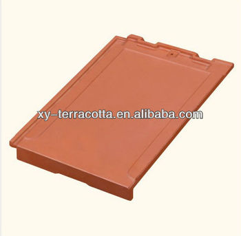 Terracotta flat roof tiles red clay roof tile made in for Buy clay roof tiles online