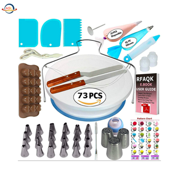 Amazon Hot Sale Cake Decorating Tools Baking Supplies Fondant Tools Cake Decorating Tools Kit Piping Icing Tips Supplies Set