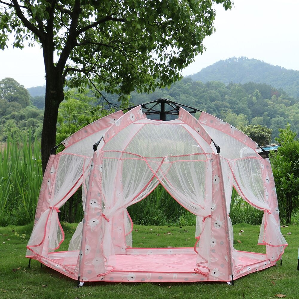 AIOIAI Princess Kids Tent Automatic Play Tent For Children Kids Indoor Foldable Play Tent