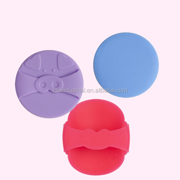 Pig silicone puff, Silicone Anti-Sponge Makeup Applicator, silicone makeup sponge