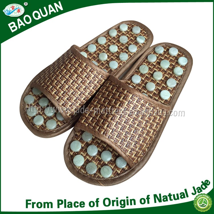 New design popular health care foot massager and body relaxing jade health fit slippers